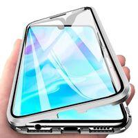 Capa magnética para Huawei P20 Lite com protetor de tela - prata