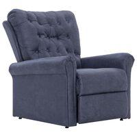 vidaXL Cadeira reclinável couro camurça artificial cinzento