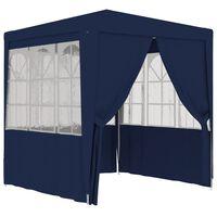 vidaXL Tenda festas com paredes laterais 2x2 m 90 g/m² azul