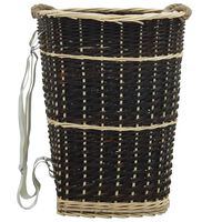 vidaXL Mochila para lenha com alças 50x44x58 cm salgueiro natural