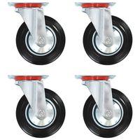 vidaXL 12 pcs rodas giratórias 160 mm