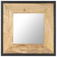 vidaXL Espelho 50x50 cm madeira de mangueira maciça