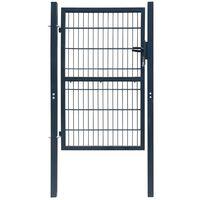 2 D portão de cerca (simples), antracite cinzento 106 x 170 cm