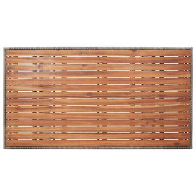 vidaXL Mesa de jardim 130x70x66 cm madeira de acácia maciça cinzento