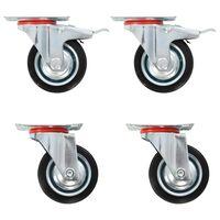vidaXL 16 pcs rodas giratórias 75 mm