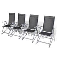 vidaXL Cadeiras de jardim dobráveis 4 pcs alumínio