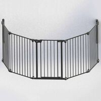 Noma Portão de segurança com 5 painéis Modular metal preto 94238