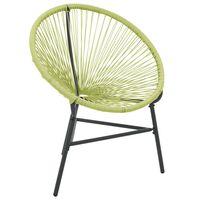 vidaXL Cadeira Acapulco para jardim vime PE verde
