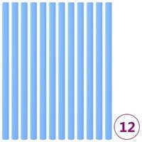 vidaXL Mangas em espuma para postes de trampolim 12 pcs 92,5 cm azul