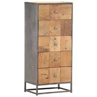vidaXL Armário de gavetas 45x30x100 cm madeira recuperada maciça