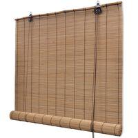 vidaXL Estore/persiana em bambu 100x220 cm castanho