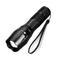 Lanterna LED impermeável zoomable - preta