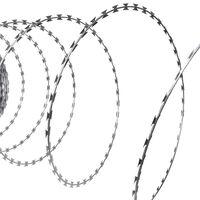 vidaXL Rolo de arame farpado em aço galvanizado 300 m