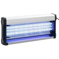 vidaXL Eletrocutor de insetos alumínio ABS 60 W preto