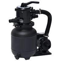 vidaXL Bomba filtro de areia p/ piscina com válvula de 7 posições 18 L
