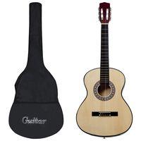 "vidaXL 12 peças conjunto de guitarra clássica para iniciantes 4/4 39"""