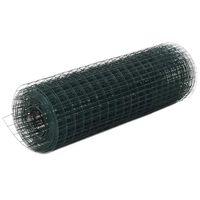 vidaXL Cerca arame galinheiro 25x0,5 m aço c/ revestimento PVC verde