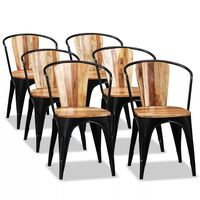 vidaXL Cadeiras de jantar 6 pcs madeira acácia maciça
