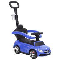 vidaXL Carro infantil de empurrar Mercedes-Benz C63 azul