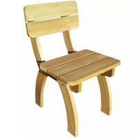 vidaXL Cadeira de jardim madeira de pinho impregnada
