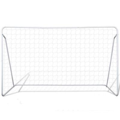 vidaXL Balizas de futebol com redes 2 pcs aço 240x90x150 cm