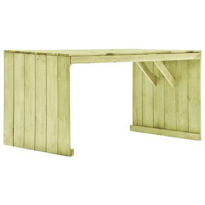 vidaXL Mesa de jardim 150x87x80 cm madeira de pinho impregnada
