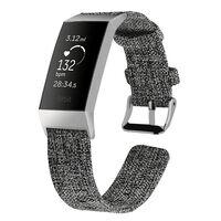 Pulseira Fitbit Charge 3/4 lona cinza escuro - S