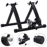 vidaXL Rolo de treino para bicicleta roda 26-28 aço preto