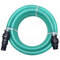 vidaXL Mangueira de sucção com conectores 4 m 22 mm verde