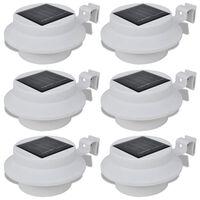 Conjunto Lâmpada Solar 6 Peças de Exterior para a Cerca Calha