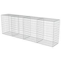 vidaXL Muro gabião com tampas aço galvanizado 300x50x100 cm