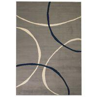 vidaXL Tapete moderno com design de círculos 80x150 cm cinzento