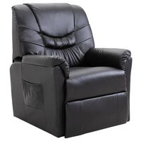 vidaXL Cadeira reclinável couro artificial preto