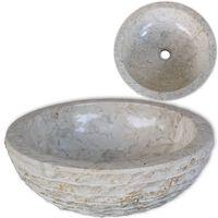 vidaXL Lavatório em mármore 40 cm creme