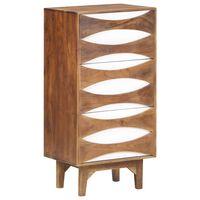 vidaXL Armário de gavetas 44x35x90 cm madeira de acácia maciça