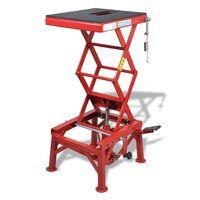 vidaXL Elevador de motos 150 kg vermelho