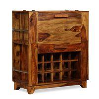 vidaXL Armário de bar madeira sheesham maciça 85x40x95 cm