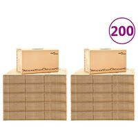 vidaXL Caixas para mudanças XXL 200 pcs 60x33x34 cm