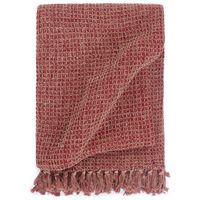 vidaXL Manta em algodão 125x150 cm bordô