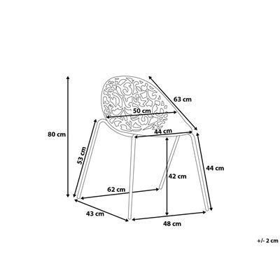 Cadeira de jantar moderna - Conjunto de 4 unidades - Verde - MUMFOR