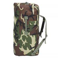 vidaXL Saco de pano estilo militar 85 L camuflagem