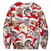 Suéter de Natal com gatos - XXL