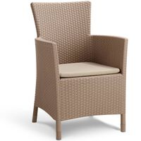 "Allibert Cadeira de jantar ""Iowa"" cappuccino 215519"