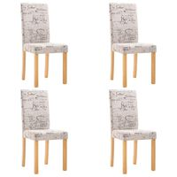 vidaXL Cadeiras de jantar 4 pcs tecido creme
