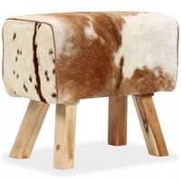 vidaXL Banco em couro de cabra genuíno 60x30x50 cm
