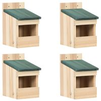 vidaXL Casas para pássaros 4 pcs 12x16x20 cm madeira de abeto