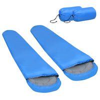 vidaXL Sacos-cama leves 2 pcs 15 ℃ 850 g azul