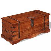 vidaXL Arca de arrumação em madeira maciça