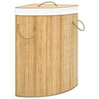 vidaXL Cesto de canto para roupa suja 60 L bambu