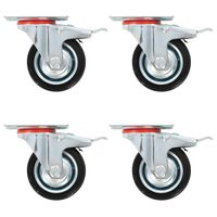 vidaXL 8 pcs rodas giratórias 75 mm